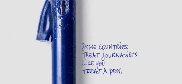 Some countries treat journalists like you treat a pen | Adv Campaign