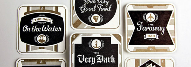 """The Best Bars in America"" a series of six vintage look, coasters!"