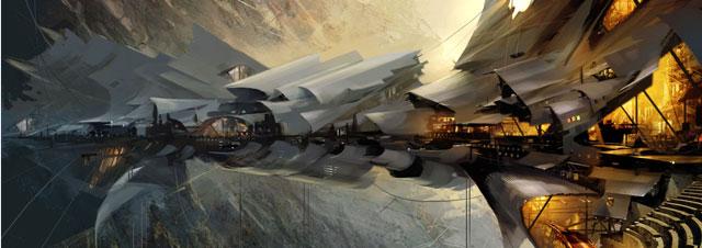 Concept ships by Daniel Dociu