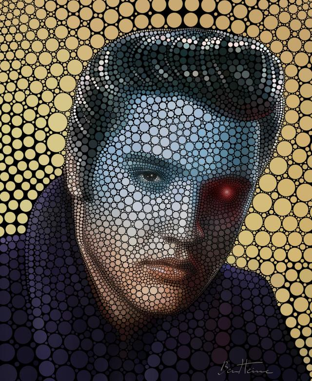 Fantastic Digital Circlism Portraits by Ben Heine