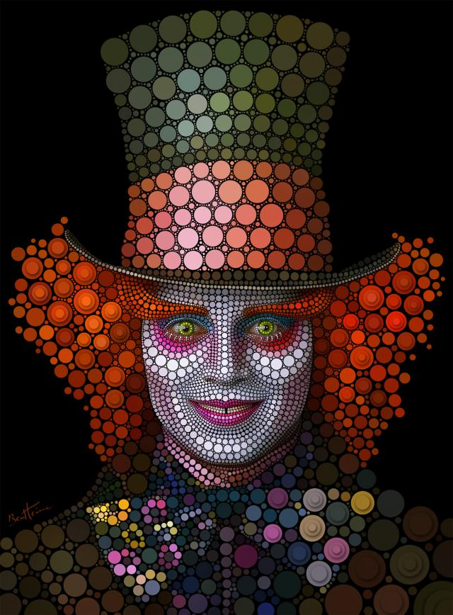 fantastic digital circlism portraits by ben heine