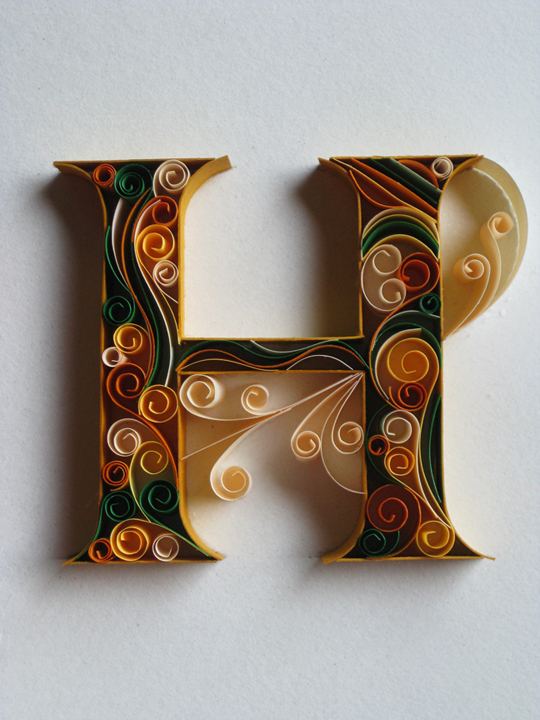Amazing Paper Work Typography by Sabeena Karnik