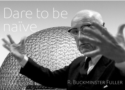 Feel the power of Buckminster's Fuller words through the wonderful photos of Chris Lozos