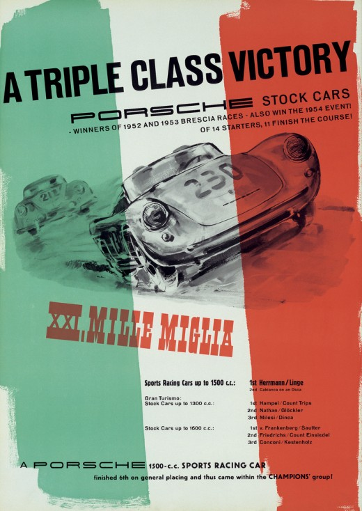 Awesome Porsche Posters from the 1950's