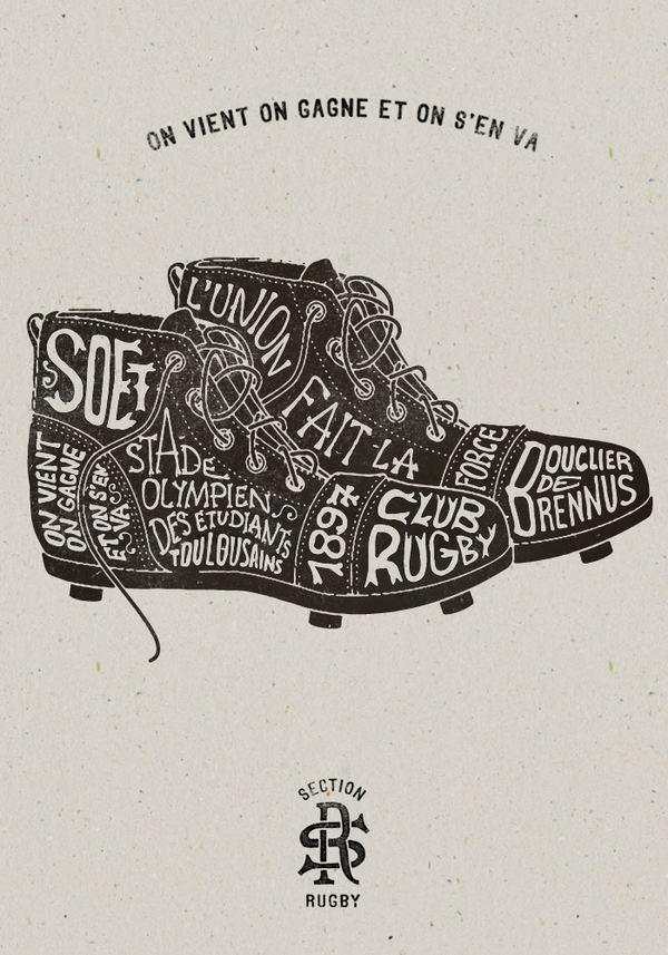 Section Rugby in Typo | Artworks by BMD Design