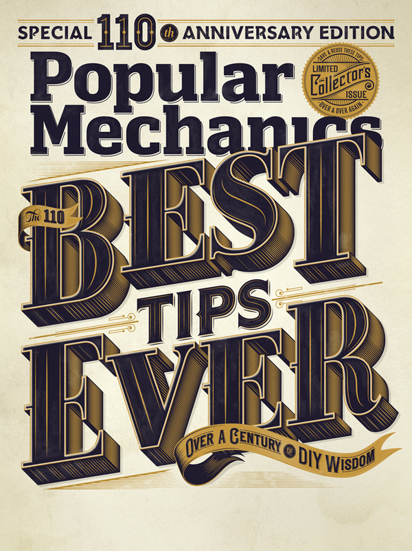 Popular Mechanics 110th Edition | Typography
