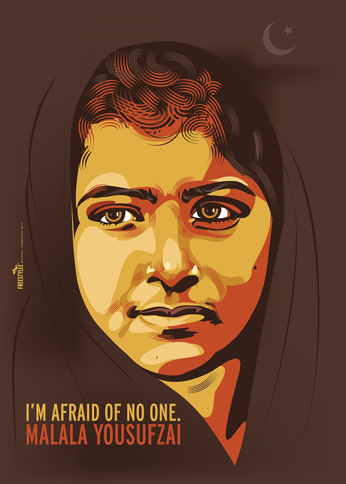 Malala Yousufzai – I am Afraid of No One! | A Wonderful Poster Commemorating this Fearless Girl