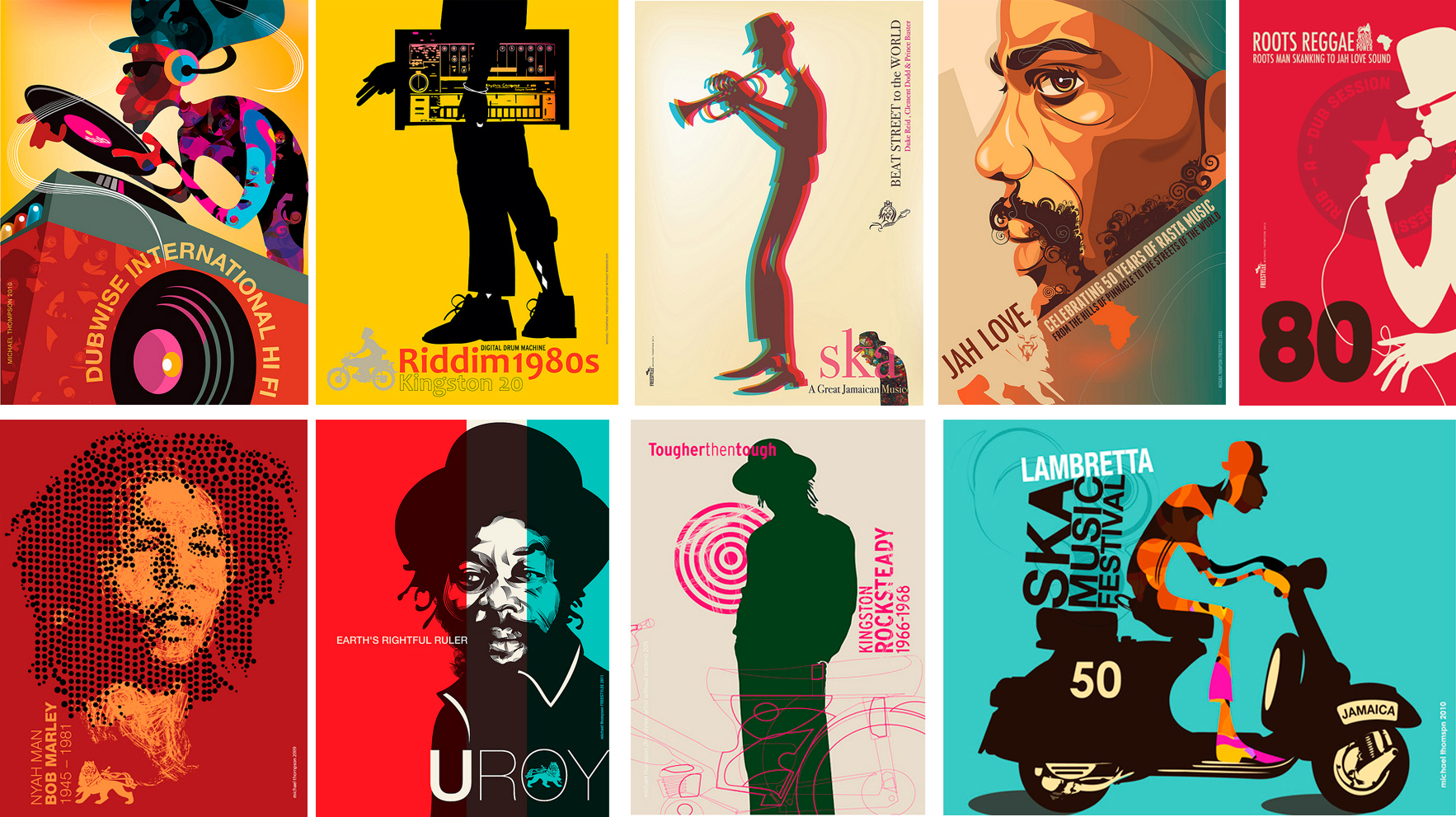 30 Amazing Reggae Poster Art | Graphic Art News