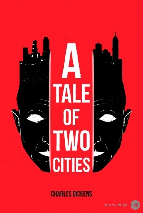 Classic Book Cover Redesign : A tale of two citiesillustration by roberlan borges