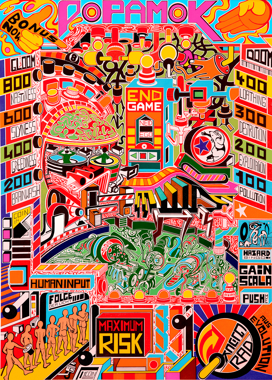 Pop Amok | A craziness of colors, shapes and references…