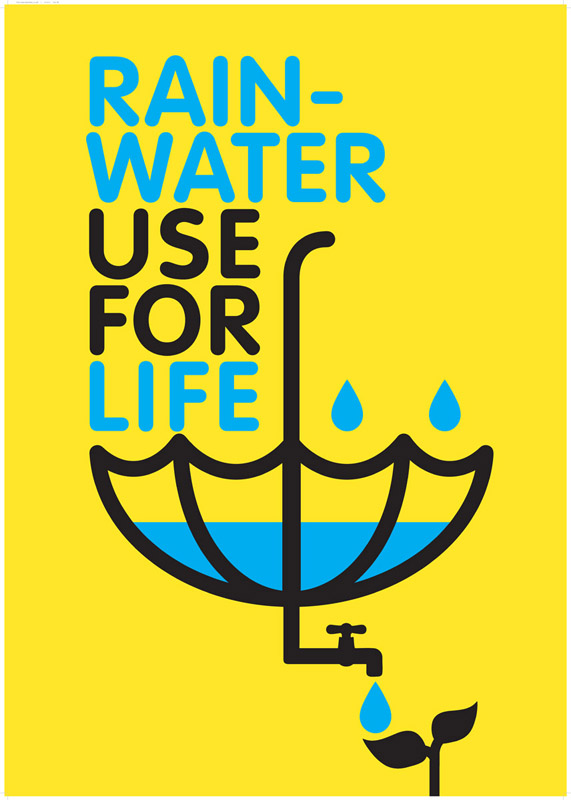 Poster Design for Rainwater Harvesting