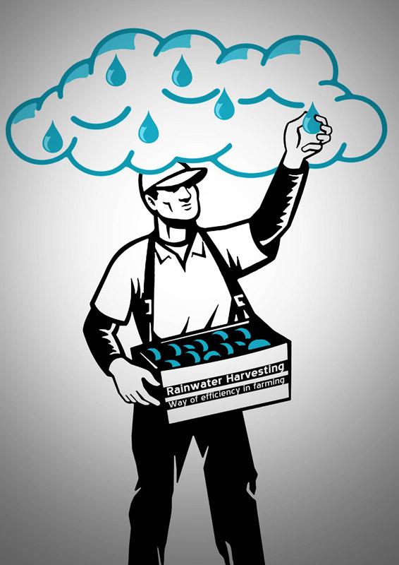 Poster Design for Rainwater Harvesting | Graphic Art News