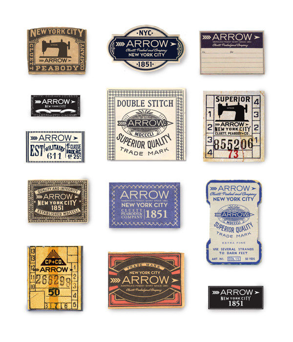 Arrow Cluett Labels and Packaging by Glenn Wolk