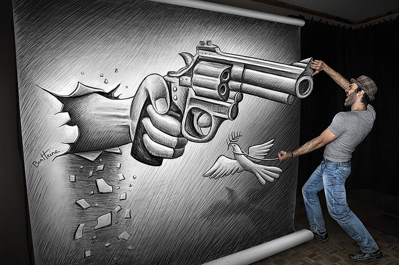 Pencil Vs Camera by Visual Artist Ben Heine