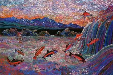 Alfredo Arreguin-The Last Salmon Run