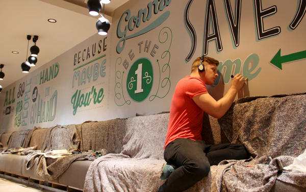 Typography Mural for Holiday Inn
