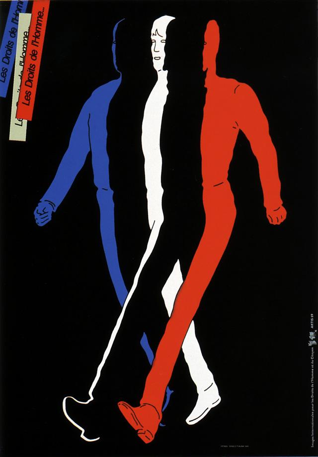 Human rights (Shigeo Fukuda, 1989)