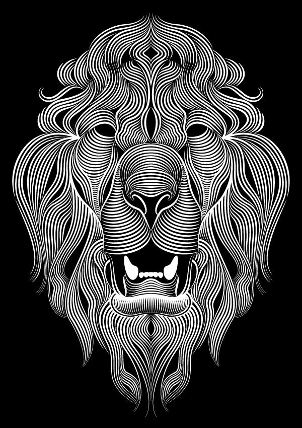 Creative Cloud Illustrator Lion by Patrick Seymour