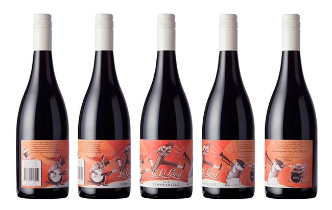 La La Land_Wine_Label_Design_Wrap_Around