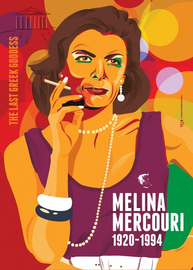 Melina Merkouri by Maria Papaefstathiou