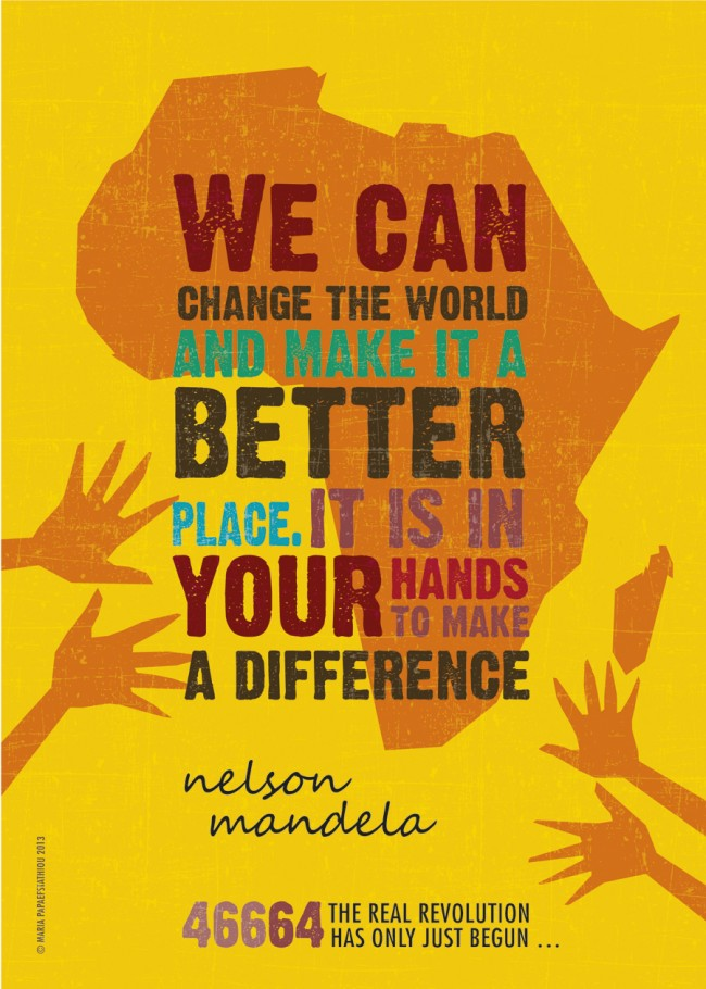 Nelson Mandela Quote by Maria Papaefstathiou
