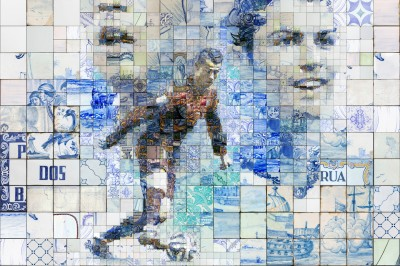 Astonishing Series of Mosaic Illustrations paying tribute to Cristiano Ronaldo