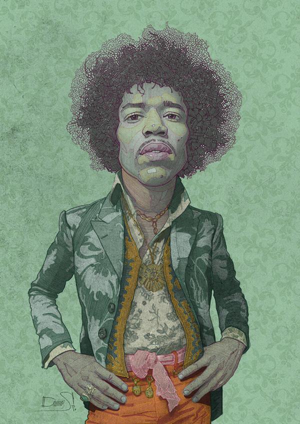 Jimi Hendrix by Stavros Damos