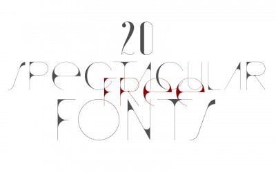 20 Spectacular and Free Fonts
