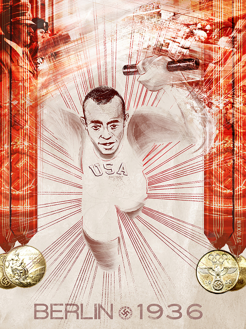 jesse owens essay american track and field legend jesse owens had  digital art exhibition celebrates historic moments in sports and jesse owens berlin 1936 by nikkolas