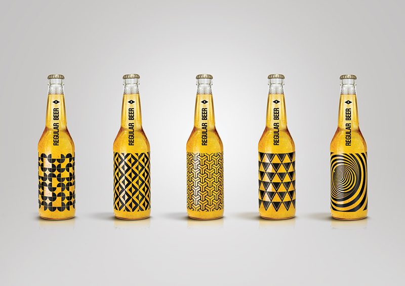 Regular Beer Packaging in Geometric Patterns