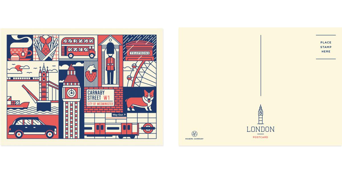 London-postcard-set-2