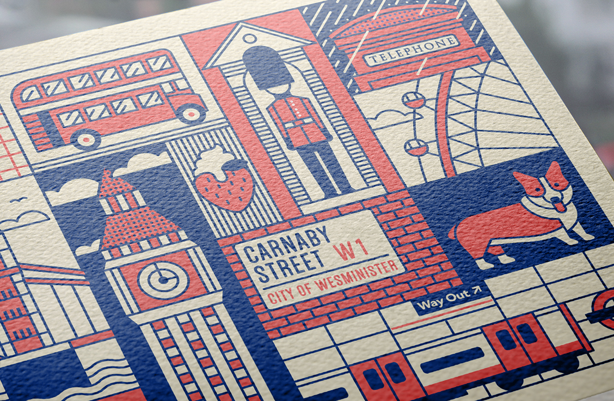 2 Wonderful Postcard Sets and Line Icons of 12 Most Famous Landmarks