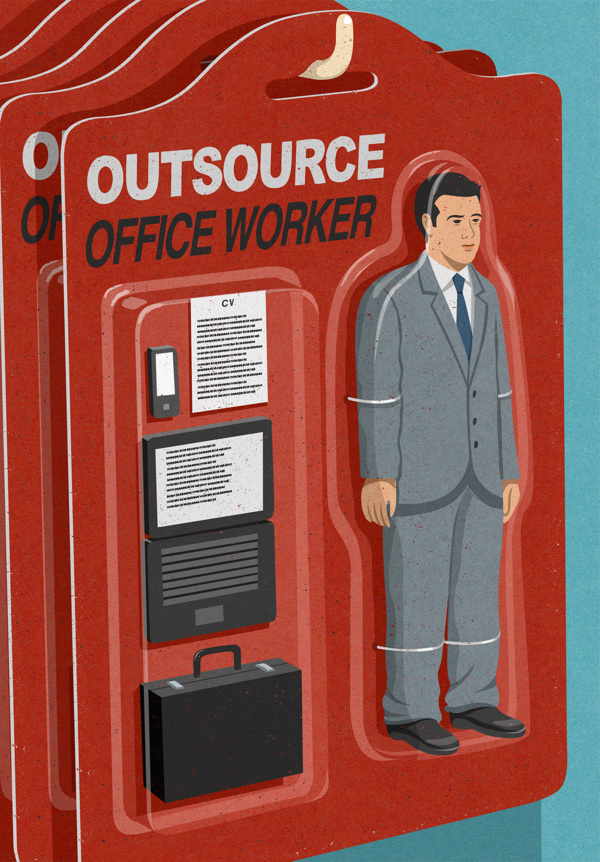 Innovative Satirical Illustrations by John Holcroft