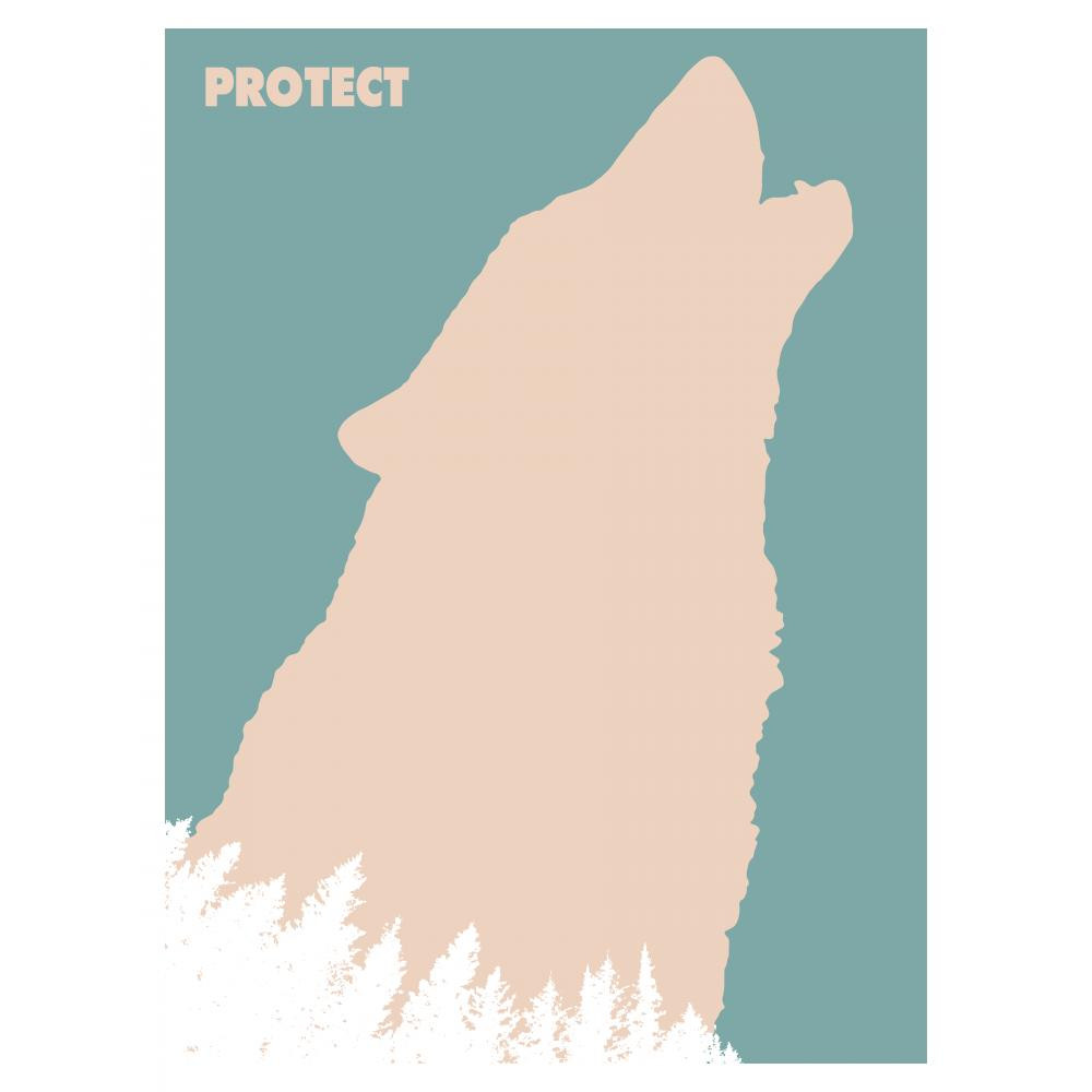 Posters Celebrating the Mysterious and Threatened Gray Wolf | Join The Pack campaign