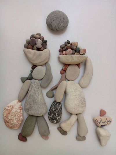 Unimaginable Collection of Compositions made of pebbles and stones