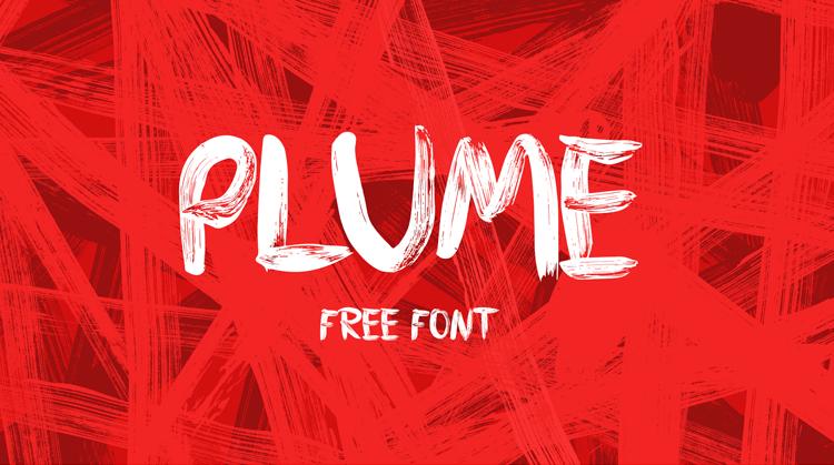 PLUME – Free brush font