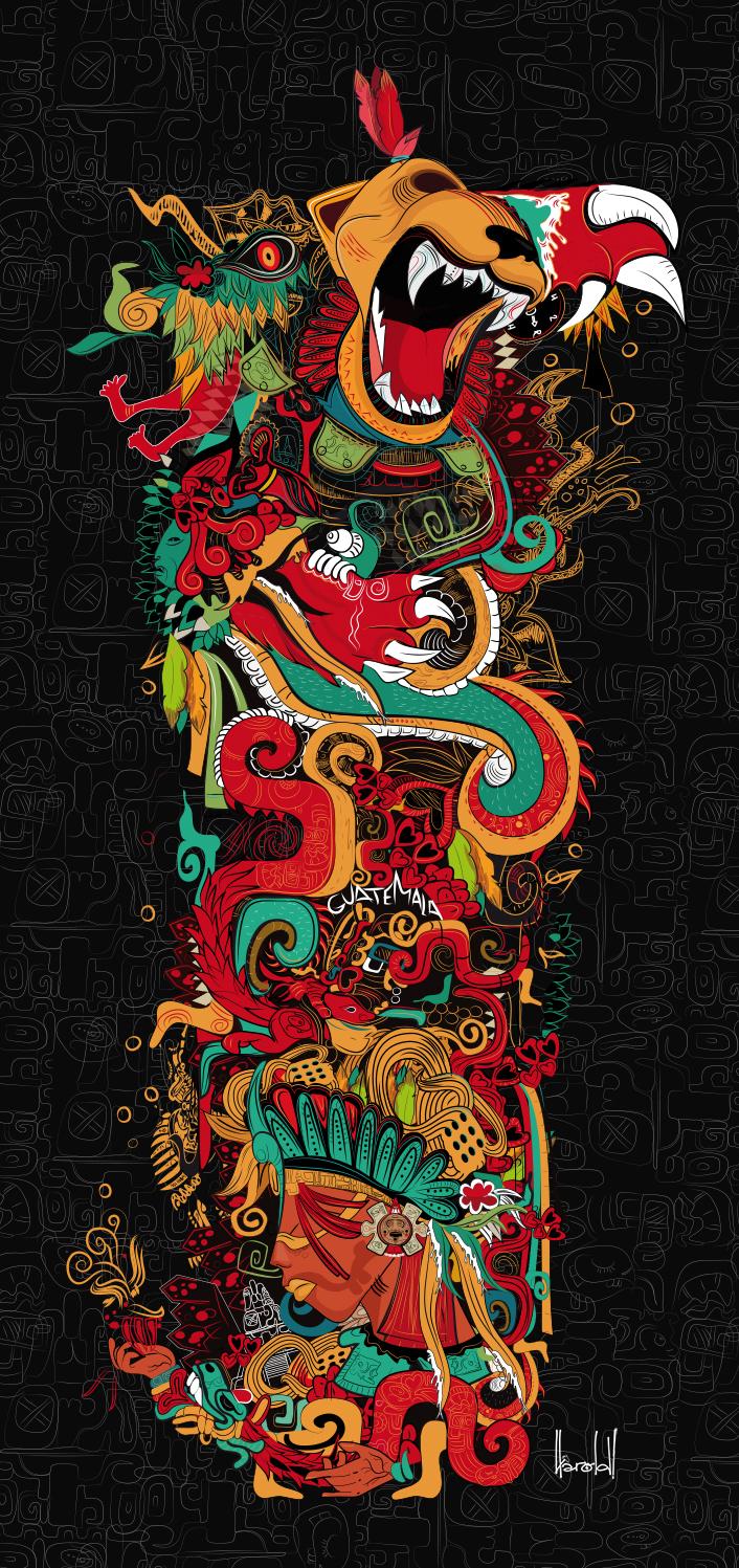 Harold Chacon Rivas - Psicodelia Maya for Graphicart-news.com