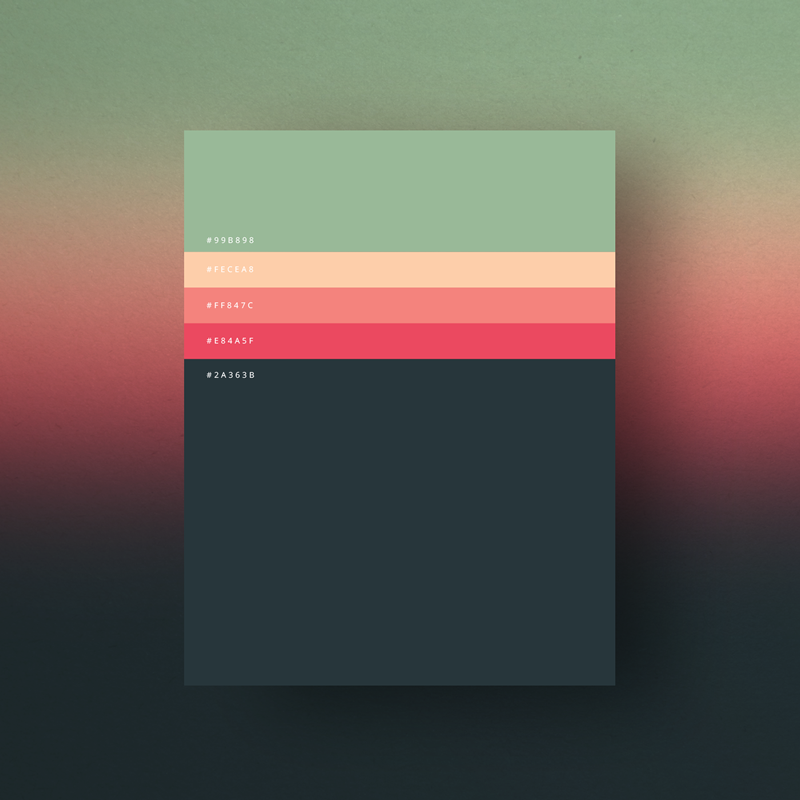 Minimalist color palettes 2015 graphic art news Minimalist typography