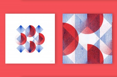 Red and Blue, Risograph Prints by Atto