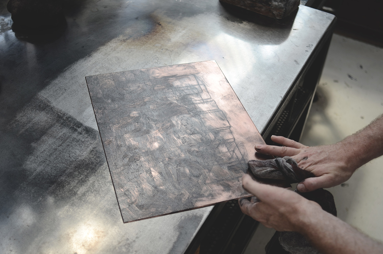 Ugo Gattoni Sybille's bath   Etching eau forte gravure edition pointe seche cuivre copper taille douce   Sold Art