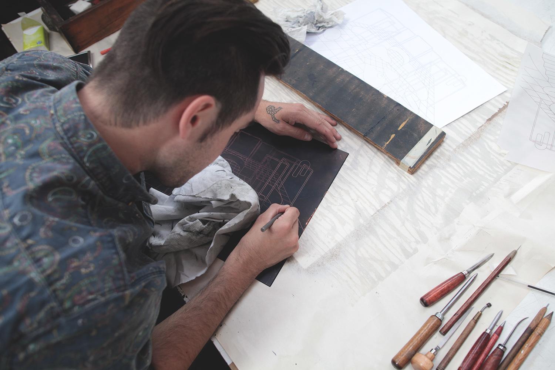 Ugo Gattoni Sybille's bath | Etching eau forte gravure edition pointe seche cuivre copper taille douce | Sold Art