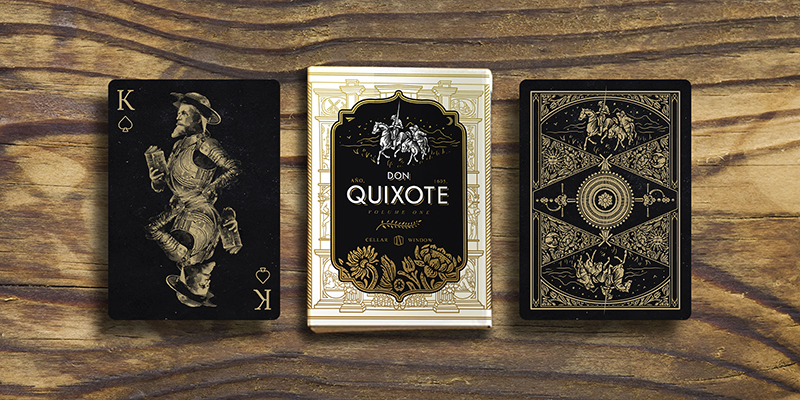 Don Quixote playing cards inspired by his most renowned work