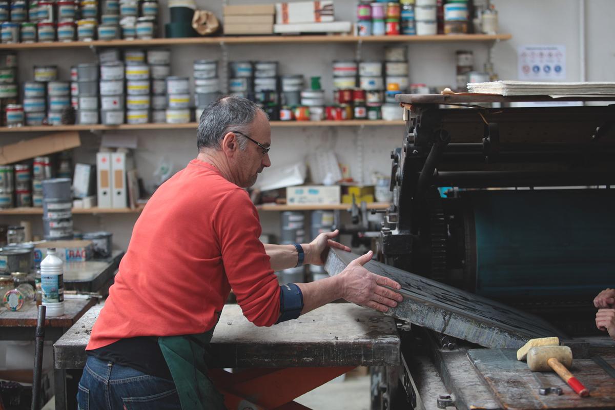 ugo-gattoni-mcbess-sweetbread-lithography-oeuvre-illustration-fine-art-print-collaboration-edition-soldart-49-presse-marinoni-voirin-artisant-marc-urdla