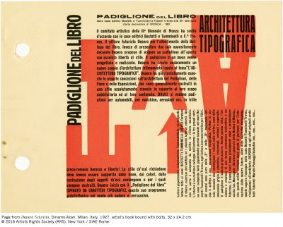 "New Facsimile Edition of Fortunato Depero's ""Bolted Book"""