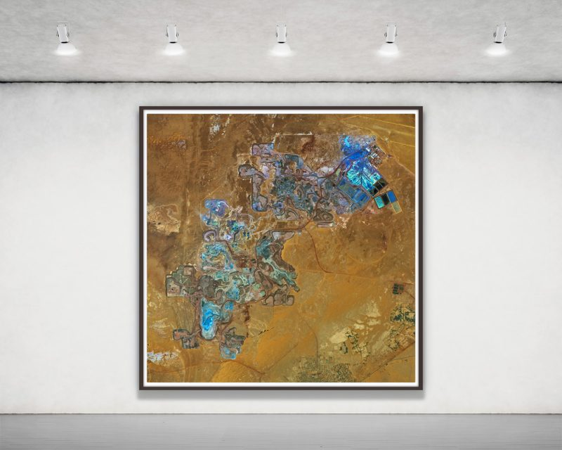 african mines aerial photography, framed