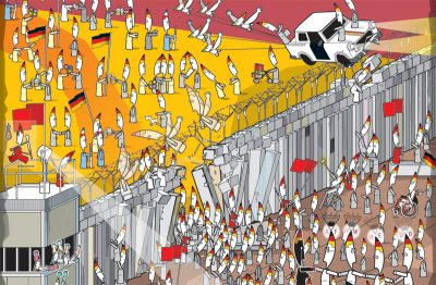 "Poster ""The fall of the Berlin Wall"""