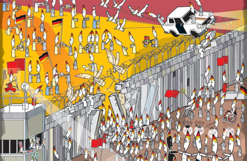 The fall of the Berlin Wall, Detail