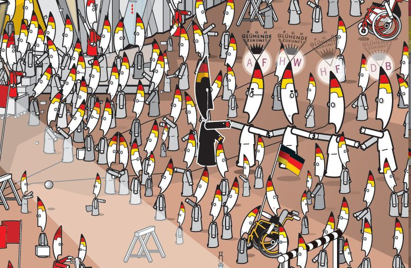 The fall of the Berlin Wall detail