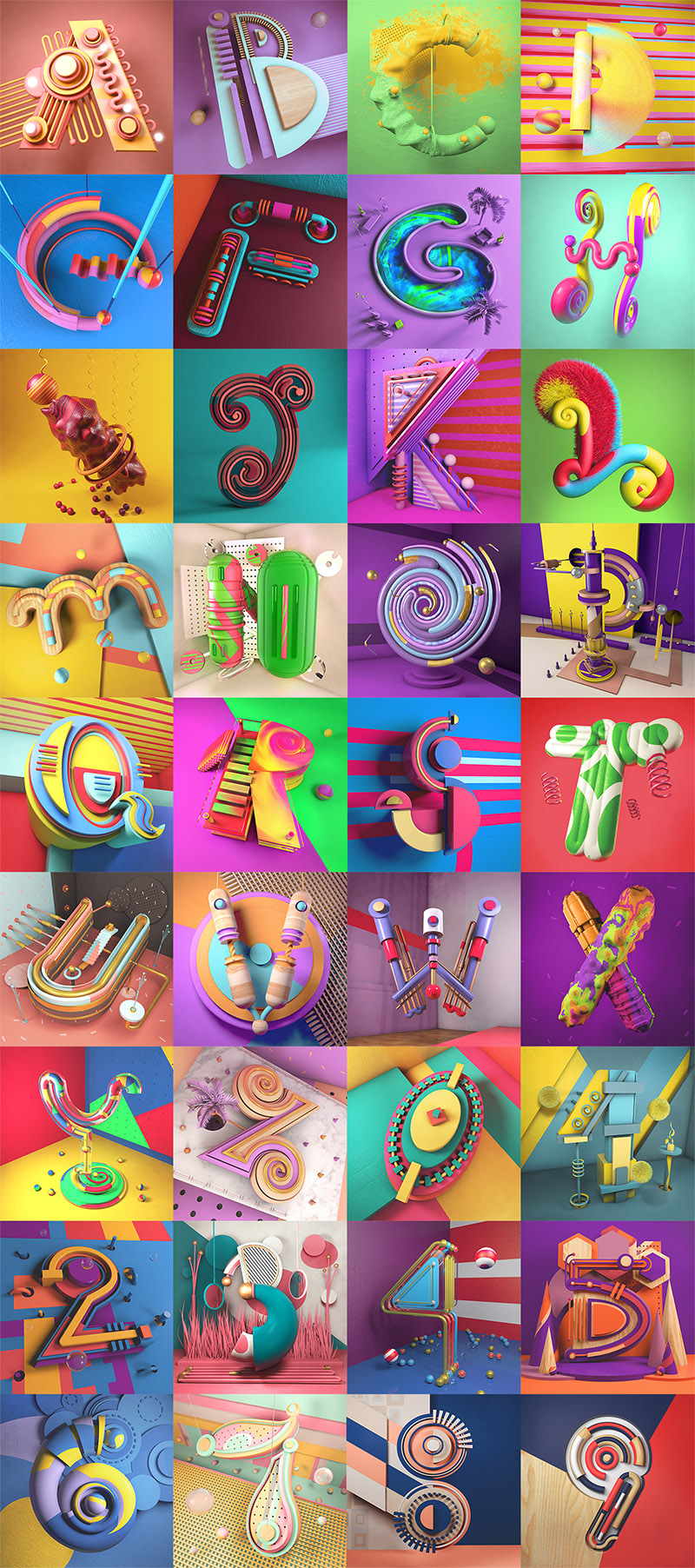 Illustrated Alphabet Project by Carlo Cadenas