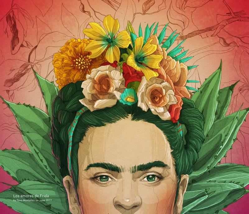 Frida Kahlo by Tavo Montañez